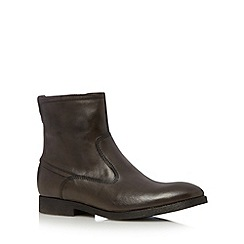 RJR.John Rocha - Designer chocolate leather zipped boots