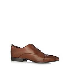 J by Jasper Conran - Designer tan leather oxford lace shoes