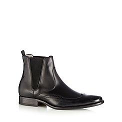 J by Jasper Conran - Designer black leather brogue chelsea boots