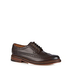 RJR.John Rocha - Designer chocolate leather brogues