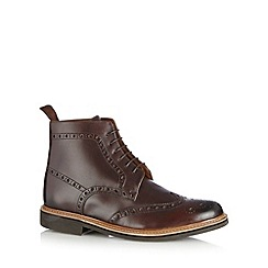 RJR.John Rocha - Designer chocolate leather brogue boots