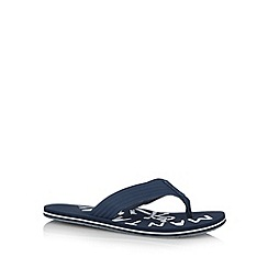 Mantaray - Navy logo print sandals