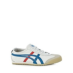 Onitsuka Tiger - White leather stripe applique trainers