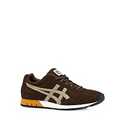 Onitsuka Tiger - Dark brown logo lace up trainers