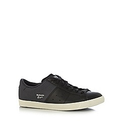 Onitsuka Tiger - Black 'Lawnship QI' leather suede trainers