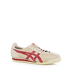Onitsuka Tiger - Beige suede logo lace up trainers