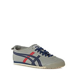 Onitsuka Tiger - Light grey leather stripe applique trainers
