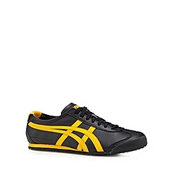 Onitsuka Tiger - Black leather logo trainers