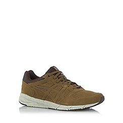 Onitsuka Tiger - Khaki suede lace up trainers