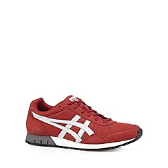 Onitsuka Tiger - Dark red logo lace up trainers
