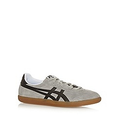 Onitsuka Tiger - Light grey 'Tokuten' striped applique trainers