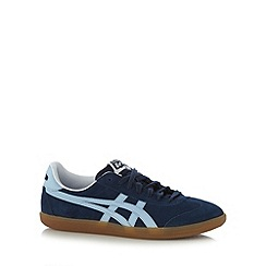 Onitsuka Tiger - Navy 'Tokuten' striped applique trainers