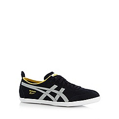 Onitsuka Tiger - Black suede lace up trainers
