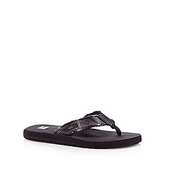 Quiksilver - Black canvas toe post strap flip flops