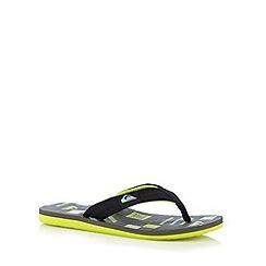 Quiksilver - Grey quilted design toe post flip flops