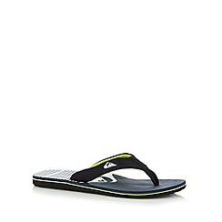 Quiksilver - Navy quilted design toe post flip flops
