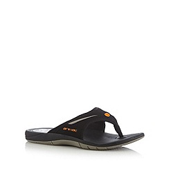 Animal - Black logo toe post flip flops