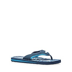 Animal - Blue logo flip flops