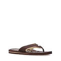 Animal - Brown logo flip flops