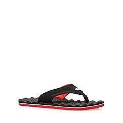 Animal - Black ripple sole flip flops