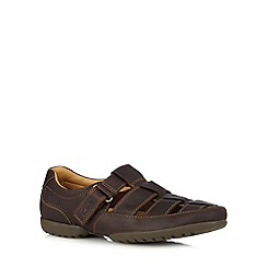 Clarks - Brown 'Recline Open' sandals