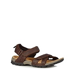 Clarks - Brown leather 'Vextor' sandals