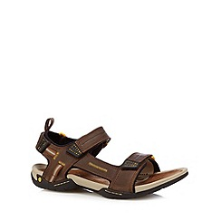 Clarks - Brown 'Victus Double Strap' sandals