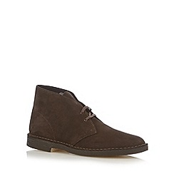 Clarks - Chocolate suede lace up desert boots