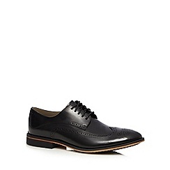 Clarks - Black leather 'Gatley Limit' brogue shoes