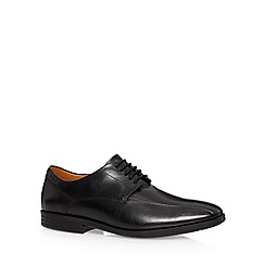 Clarks - Black 'Glenrise Over' leather lace up shoes