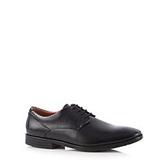 Clarks - Black 'Glenrise Walk' leather lace up shoes