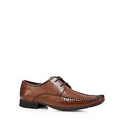 Clarks - Tan 'Ferro Walk' leather shoes