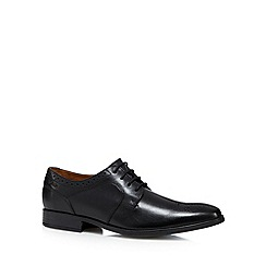 Clarks - Black 'Kalden Edge' leather lace up shoes