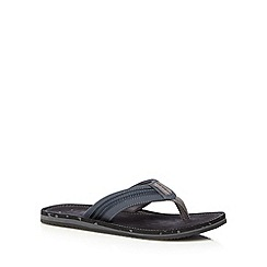 Clarks - Navy 'Riverway Sun' flip flops