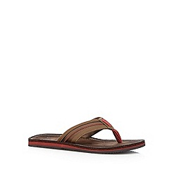 Clarks - Brown 'Riverway Sun' flip flops