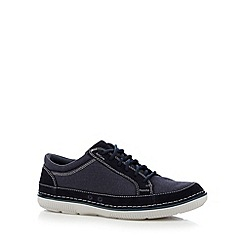 Clarks - Navy 'Sully Ollie' canvas lace up shoes