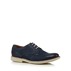Clarks - Blue 'Raspin Plan' leather lace up shoes
