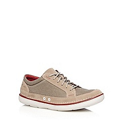 Clarks - Grey 'Sulley Ollie' canvas trainers