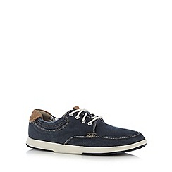 Clarks - Navy 'Norwin Vibe' canvas trainers