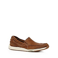 Clarks - Tan 'Allston Free' leather shoes