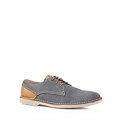 Clarks - Blue 'Hinton Fly' leather shoes