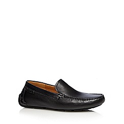 Clarks - Black leather 'Davont Drive' slip ons
