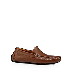Clarks - Tan leather 'Davont Drive' slip ons