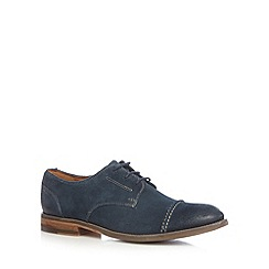 Clarks - Navy 'Exton Cap' casual suede shoes