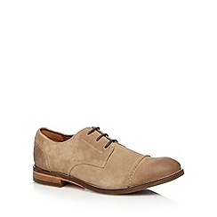 Clarks - Taupe 'Exton Cap' suede lace up shoes