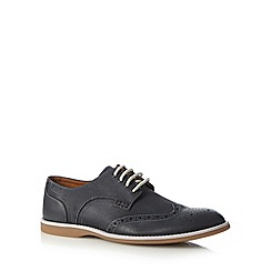 Clarks - Navy 'Farli Limit' leather brogues