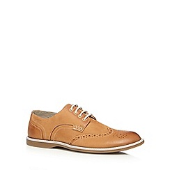 Clarks - Tan 'Farli Limit' leather brogues