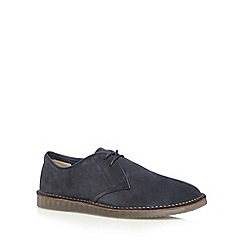 Clarks - Dark blue 'Darning Walk' suede shoes