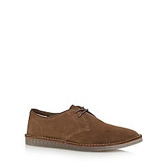 Clarks - Brown 'Darning Walk' suede shoes