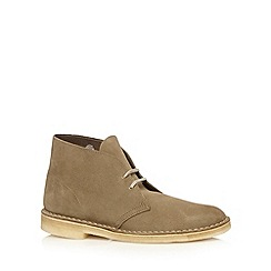 Clarks - Light brown 'Desert' suede shoes